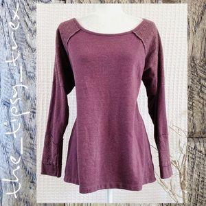 Relatively Plum Purple Lace Trim Sweatshirt 1X